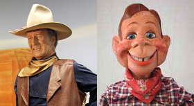 John Wayne vs Howdy Doody